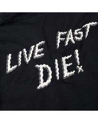 McQ Alexander McQueen Black Mcq By Alexander Mcqueen Live Fast Die! Hoody for men