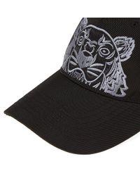 KENZO Black Tiger Canvas Cap