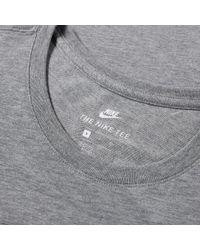 Nike - Gray Bonded Tee for Men - Lyst