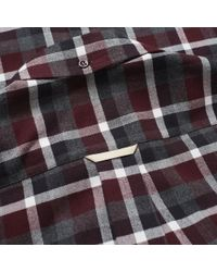 Acne Multicolor Isherwood Tartan Check Button Down Shirt for men