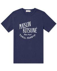 Maison Kitsuné - Blue Maison Kitsuné Palais Royal Tee for Men - Lyst