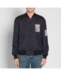 Alexander Wang Black Padded Bomber Jacket for men