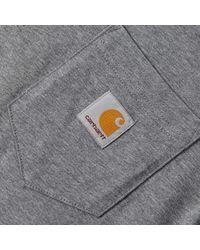 Carhartt WIP Gray Carhartt Pocket Tee for men