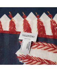 Valentino Blue Zandra Rhodes Print Scarf for men