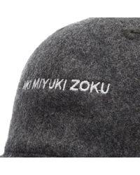 MKI Miyuki-Zoku Gray Wool Peak Baseball Cap for men