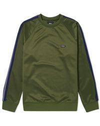 Stussy Green Poly Track Crew for men
