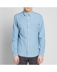 A.P.C. Blue Xavier Shirt for men