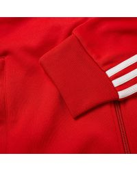 Adidas - Red Superstar Track Top for Men - Lyst
