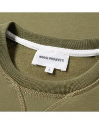 Norse Projects Green Ketel Logo Crew Sweat for men