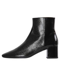 "Saint Laurent Black Stiefeletten ""Loulou"""