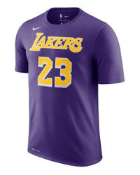 "Nike Basketballshirt ""LeBron James Los Angeles Lakers Dri-FIT"" Kurzarm in Purple für Herren"