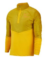 Nike Laufshirt Langarm in Yellow für Herren
