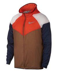 Nike Windrunner Laufjacke in Brown für Herren