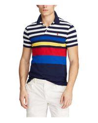Polo Ralph Lauren Poloshirt Kurzarm Slim Fit in Blue für Herren