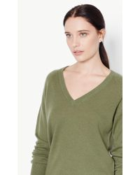 Equipment | Green Asher V-neck Cashmere Sweater | Lyst
