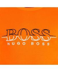 BOSS Athleisure - Orange Salbo Logo Sweatshirt for Men - Lyst