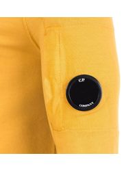 C P Company Yellow Light Fleece Lens Sweat Top for men