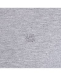 Aquascutum Gray Hillington Short Sleeve Polo for men