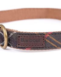 Barbour - Brown Tartan Dog Collar - Lyst