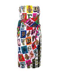 Versace White Strapless Short Dress