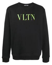 Valentino Black Vltn Logo-print Sweatshirt for men