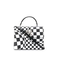 Off-White c/o Virgil Abloh Black Checkered Jitney 1.0 Tote
