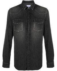 Dondup Black Denim Shirt for men