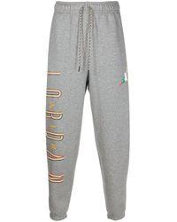 Nike Gray Air Jordan Track Pants for men