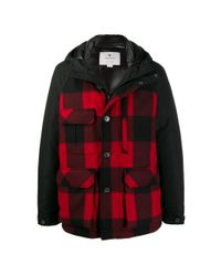 Woolrich Black Checked Jacket for men