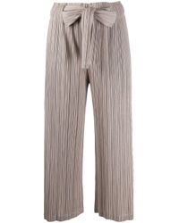 Pleats Please Issey Miyake Multicolor Cropped Micro-pleated Trousers
