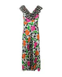 Rixo White All-over Print Dress