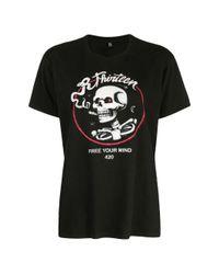 R13 Black Graphic Print T-shirt