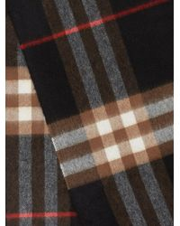 Burberry Blue Classic Check Pattern Scarf