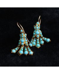 Erica Weiner Victorian Turquoise Bluebell Earrings
