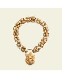 Erica Weiner Metallic Georgian Pinchbeck Fancy Chain Bracelet With Anchor Lock