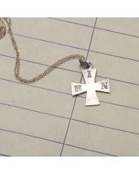 "Erica Weiner | Metallic 1886 ""h.i.n."" Maltese Cross Silver Necklace | Lyst"