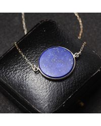Erica Weiner | Blue Lapis Slab Necklace | Lyst