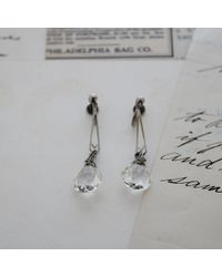 Erica Weiner - Metallic Art Deco Silver And Paste Earrings - Lyst