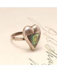 Erica Weiner - Metallic Abalone Heart Ring - Lyst