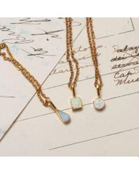 Erica Weiner | Metallic Golden Opal Shape Necklaces | Lyst
