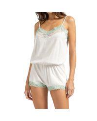Yamamay White Bamboo Jersey Nightgown