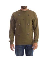 Versus  Green Logo Studs Cotton Sweatshirt for men