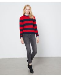 Suéter a rayas punto grueso Etam de color Red