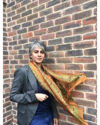 Etsy Multicolor Silk Scarf/silk Scarves/silk Scarf /batik Bandana/silk Head Neckerchief/silkhead Hair Wrap Ties