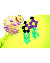 Etsy Multicolor Flower Earrings for men