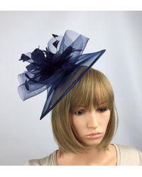 Etsy Mother Of The Bride Navy Blue Fascinator Hat Dark Wedding Hatinator Ascot Races Ladies Day
