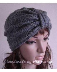 Etsy Gray Grey Turban