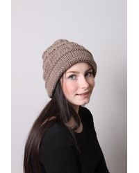 Etsy Natural Hat, Slouchy, Beanie, , Hand Knit, Beige, Adult, Teen, Accessories, Soft, Warm, Italian, Cashmere, Aran Weight, Perfect Gift