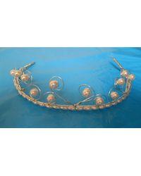 Etsy Metallic Vintage Ladies Tiara Hat 1950