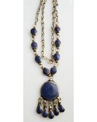 Etsy Blue Afghan Lapis Necklace